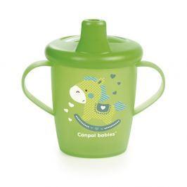 CANPOL BABIES Nevylévací hrníček TOYS zelený 250 ml Hrníčky a pítka pro děti