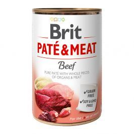 Brit PATÉ & MEAT Beef konzerva pro psy 400 g