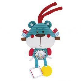 CANPOL BABIES Plyšová edukační zavazovací hračka FOREST FRIENDS modrý medvěd