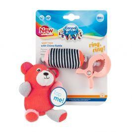 CANPOL BABIES Plyšová hračka s klipem MEDVÍDCI červená Plyšové hračky