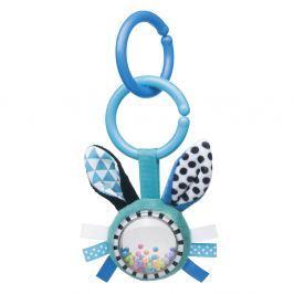 CANPOL BABIES Šustící plyšová hračka s chrastítkem ZIG ZAG králík modrá Chrastítka a kousátka