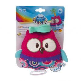 CANPOL BABIES plyšová hračka se zvuky FOREST FRIENDS růžová sova Plyšové hračky