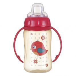 CANPOL BABIES Tréninkový hrníček s úchyty CUTE ANIMALS ptáček 320 ml Hrníčky a pítka pro děti