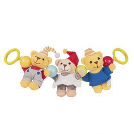 CANPOL BABIES Chrastítko do kočárku plyšové Teddy bears