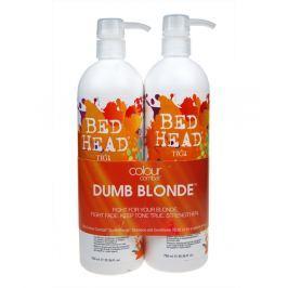 Tigi Bed Head Combat Dumb Blonde Shampoo 750 ml Šampon a 750 ml kondicioner pro blond vlasy