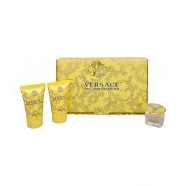 Versace Yellow Diamond Toaletní voda 5ml Edt 5ml + 25ml tělové mléko + 25ml sprchový gel