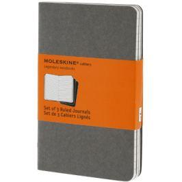Moleskine - Notesy 3 ks - linkované, světle šedé S