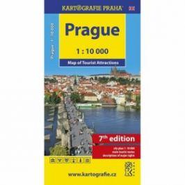 Prague - Map of Tourist Attractions /1:10 tis.