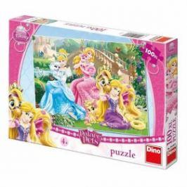 Puzzle Princezny s mazlíčky v parku