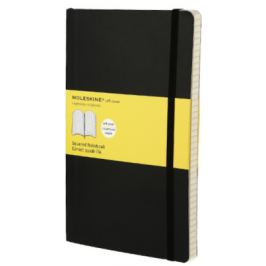 Moleskine - zápisník - čtverečkovaný, černý L