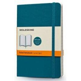 Moleskine: Zápisník měkký linkovaný modrozelený S