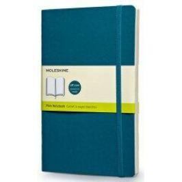 Moleskine: Zápisník měkký čistý modrozelený L