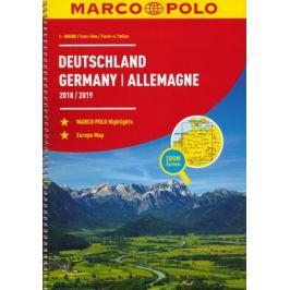 Německo, Evropa/atlas-spirála 18/19 1:300T MD