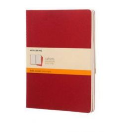 Moleskine - Notesy 3 ks - červené, linkované XL
