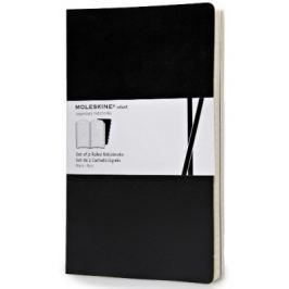 Moleskine - zápisníky Volant 2ks - linkované, černé L