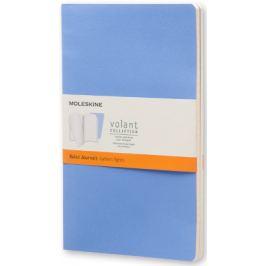 Moleskine - zápisníky Volant 2 ks - linkované, modré L