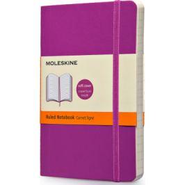 Moleskine - zápisník - linkovaný, růžový S