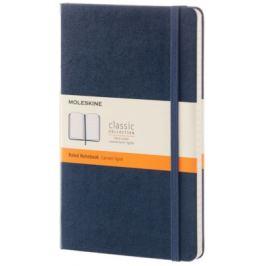 Moleskine - zápisník - linkovaný, modrý L
