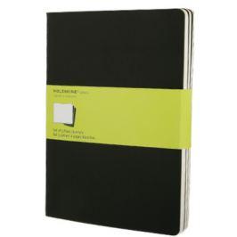 Moleskine - Notes 3 ks - čistý, černý XL