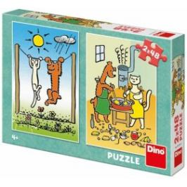 Pejsek a kočička 2x48 puzzle