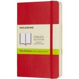 Moleskine - zápisník - měkký, čistý, červený S