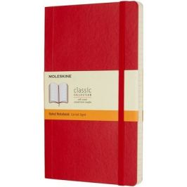 Moleskine: Zápisník měkký linkovaný červený L
