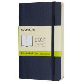 Moleskine - zápisník měkký, čistý, modrý S