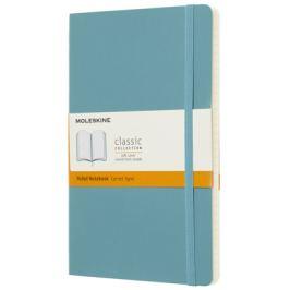Moleskine - zápisník měkký, linkovaný, modrozelený L