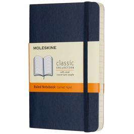 Moleskine - zápisník měkký, linkovaný, modrý S