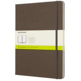 Moleskine - zápisník tvrdý, čistý, hnědý XL
