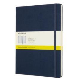 Moleskine - zápisník tvrdý, čtverečkovaný, modrý XL