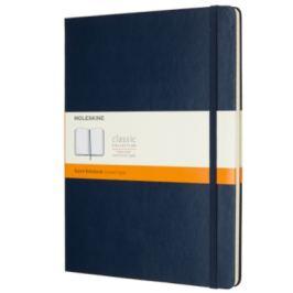 Moleskine - zápisník tvrdý, linkovaný, modrý XL