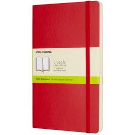 Moleskine - zápisník měkký, čistý, červený L