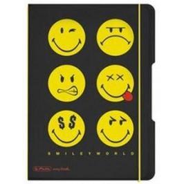 Sešit flex A5 čtverečkovaný - Smiley World Black