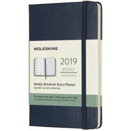 Moleskine: Plánovací zápisník 2019 tvrdý modrý S
