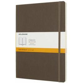 Moleskine: Zápisník měkký linkovaný hnědý XL