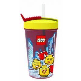 LEGO ICONIC Girl kelímek s brčkem - žlutá/červená