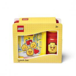 LEGO ICONIC Girl svačinový set (láhev a box) - žlutá/červená