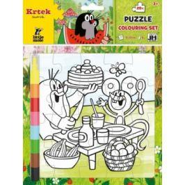 Omalovánkové puzzle Krtek