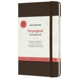 Moleskine - zápisník Voyageur - hnědý