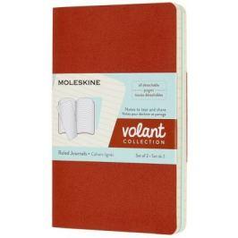 Moleskine - zápisníky Volant 2 ks - linkované, oranžový a modrý S