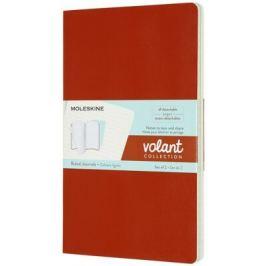 Moleskine - zápisníky Volant 2 ks - linkované, oranžový a modrý L
