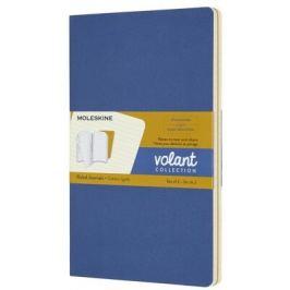 Moleskine - zápisníky Volant 2 ks - linkované, modrý a žlutý L