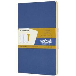 Moleskine - zápisníky Volant 2 ks - čistý, modrý a žlutý L