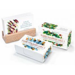 Kapky moudrosti srdce I. / Inspirující aforismy pro každý den- karty s dřevěným stojánkem - Sri Chinmoy