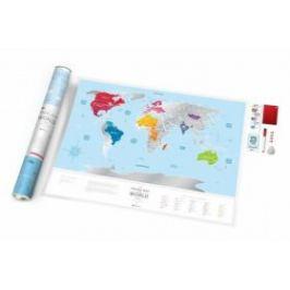Stírací mapa světa Travel Map – Silver World