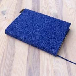Obal na knihu - Kvítky v modré (UNI-S)