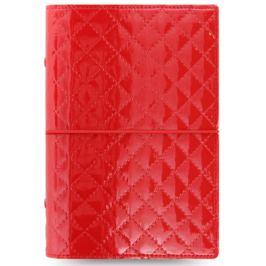 Diář Filofax A6 - Domino Luxe, Osobní, červená