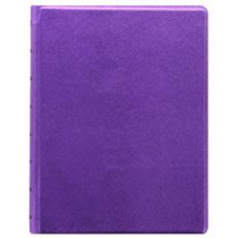 Filofax - Notebook Saffiano Metallic, A5, fialová