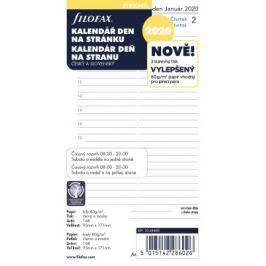 Filofax - kalendář 2020 osobní, den/1 str., link, ČJ+SJ